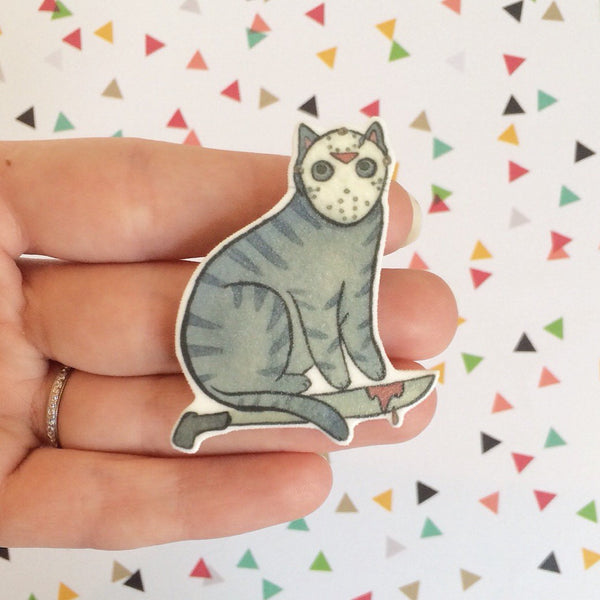 Camp Killer Cat Brooch