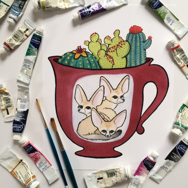 Fennec Foxes In A Teacup Terrarium