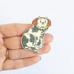 Clown Cat Brooch