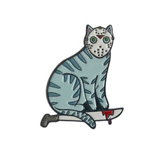 Camp Killer Cat Enamel Pin