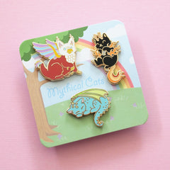 Mythical Cats 3 Pin Set
