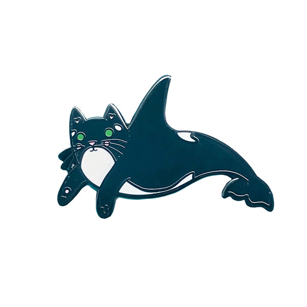 Orca Cat Enamel Pin
