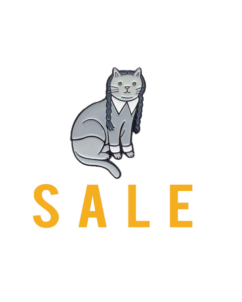Wednesday Addams Cat enamel pin SALE