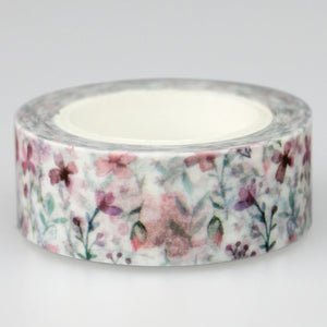 Cinta washi tape decorativa de flores, 10 m largo