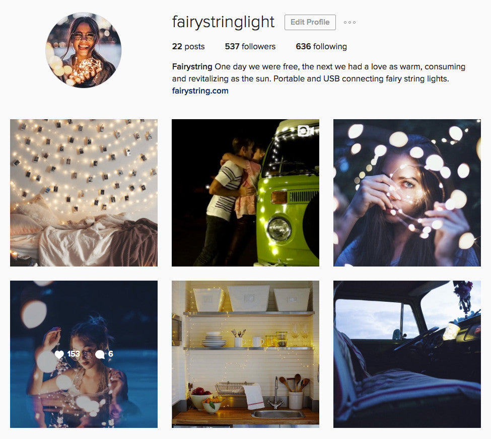 Instagram is fun. We are using #fairystring now!