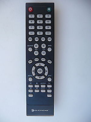 ELEMENT TV REMOTE CONTROL for ELEFT406, ELEFQ402, ELEFW401A, ELEFQ462,