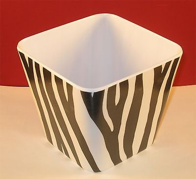 Melamine Square Garden Home Decor Display Zebra Skin Pattern Planter