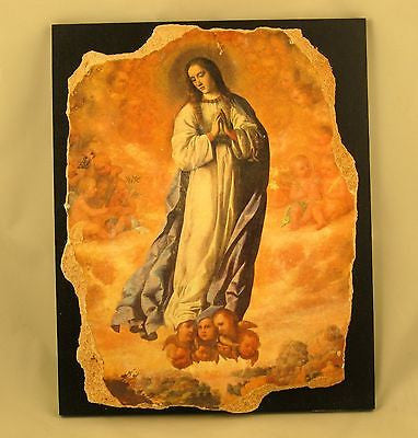 Icon Catholic The Virgin Francisco De Zurbaran Rare Medium Replica 16 01