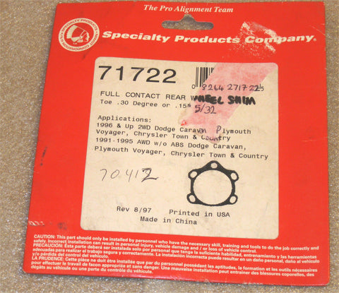 Specialty Products 71722 Alignment Toe Shim