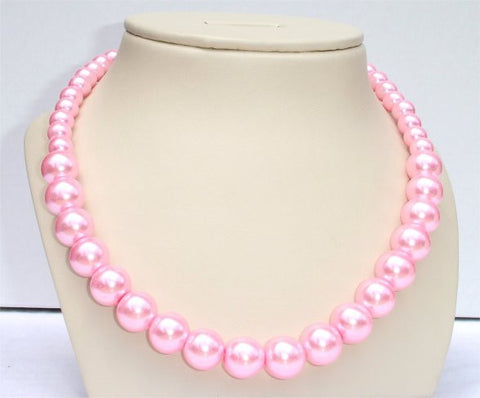 Pink Pearl Beads Necklace