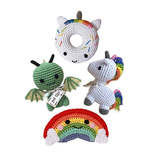 Knit Knacks-Magical Collection- Organic Cotton Small Dog Toy