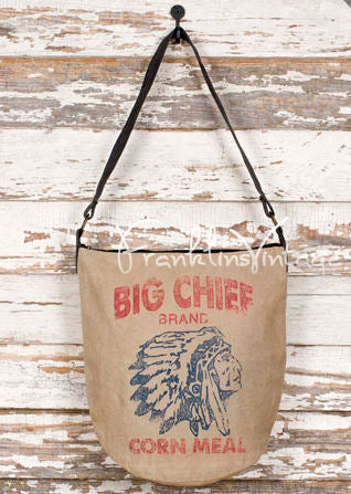 Big Chief Indian Vintage Look Canvas Bag