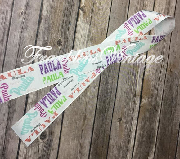 Custom 2 inch wide Add your name ribbon