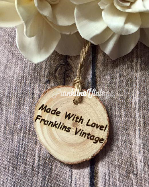 Custom Round bark Wooden Store Tag - Choose your wording