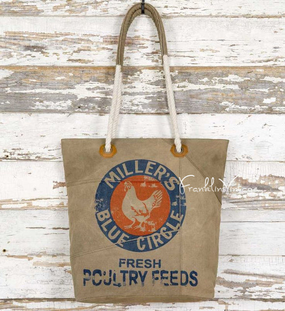 Millers Feed Vintage Look Chicken Canvas Bag