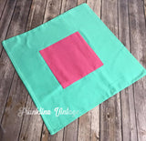 18 X 18 Blank Pillow cover in Pink/Navy or Pink/Mint