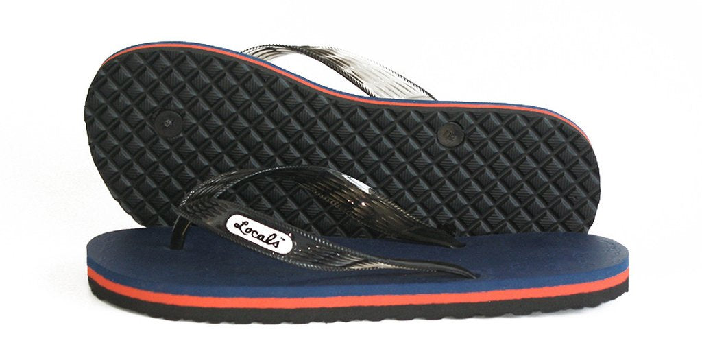 Locals Men's Slippers Striped Rubber Flip Flops from Hawaii - AlohaShoes.com