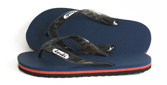 Locals Flip Flops - Navy & Red Lined Sole- AlohaShoes.com