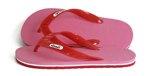 Womens Locals Flip Flops  Bright Pink Stripes from Hawaii- AlohaShoes.com
