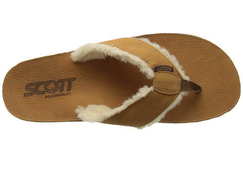 Scott's Sophisticated Hulu Leather Sandals | Wool Lined Comfort - AlohaShoes.com