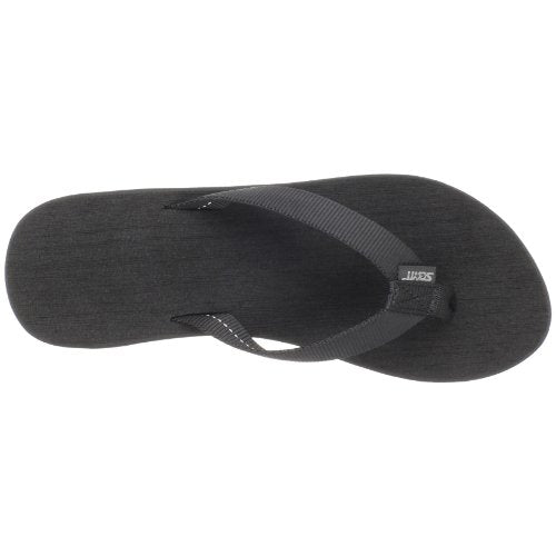 Scott Hawaii Women's Black Wedge Kahakai Flip Flop - AlohaShoes.com