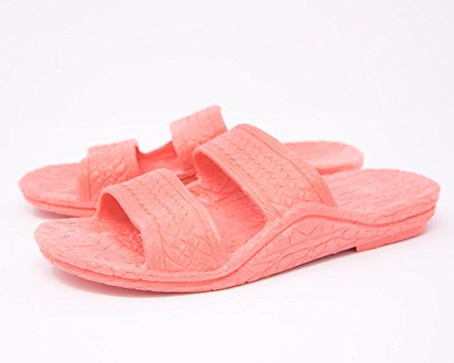 Kids Jandals by Pali Hawaii Pink children slides - AlohaShoes.com