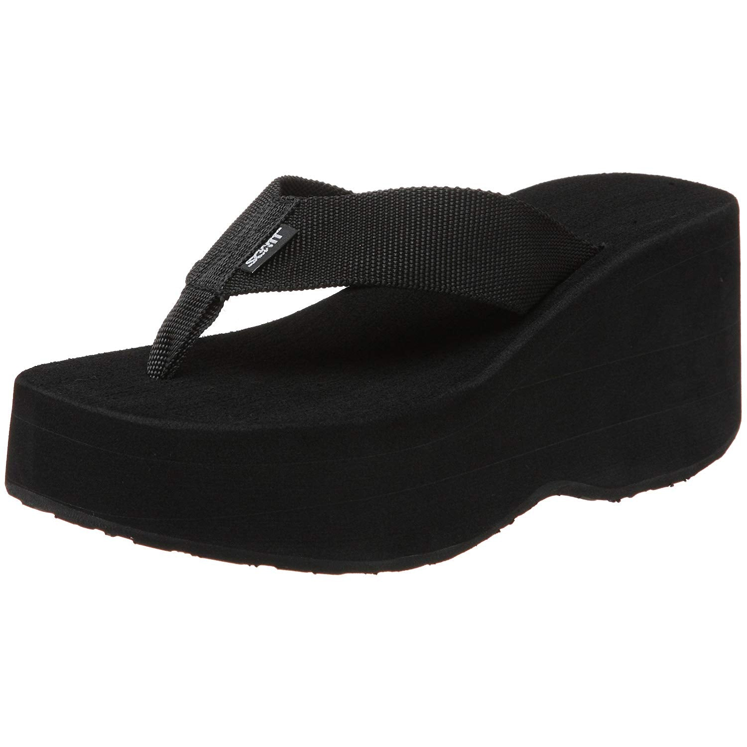 Scott Wedge Wahine Flip Flops | Tall Platform Sandals - AlohaShoes.com