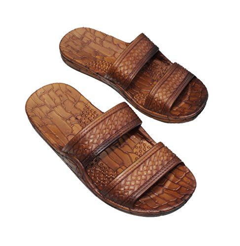Jesus Sandals From Hawaii | Brown Double Strap - AlohaShoes.com
