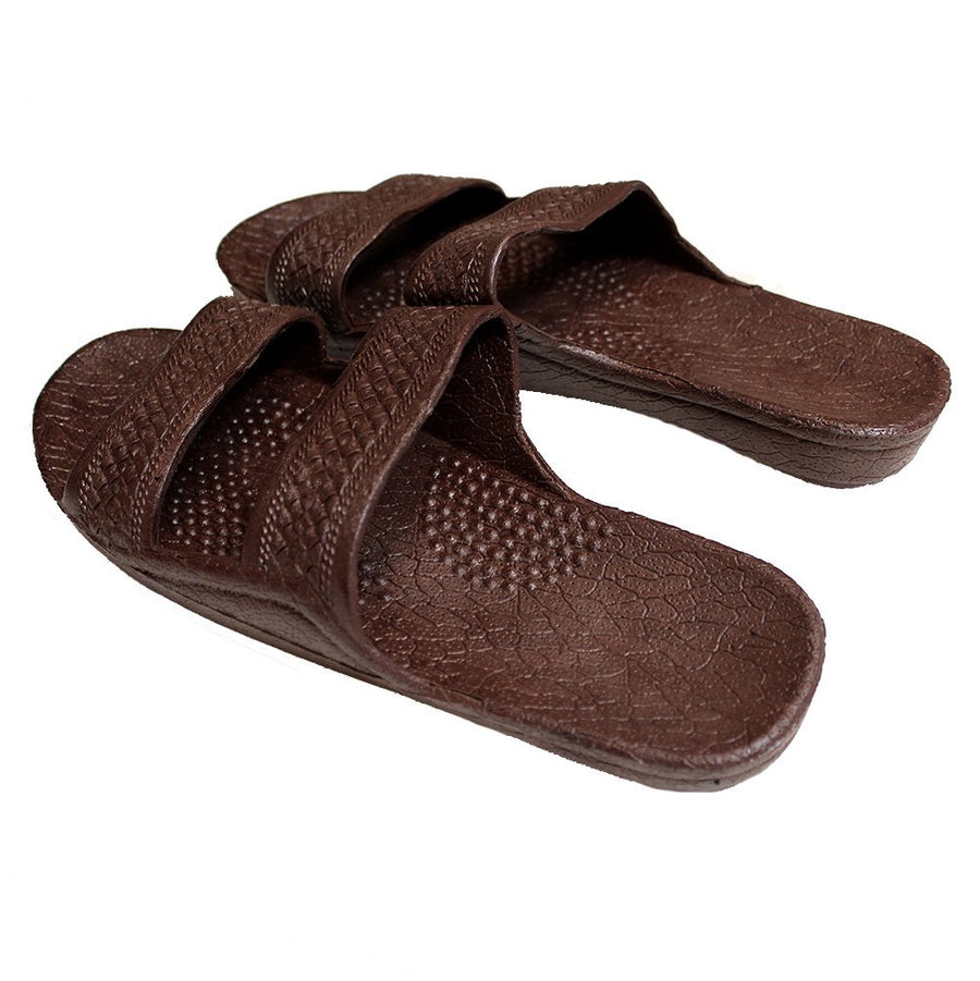 96fb78667 Jesus Slide Sandal Rubber Slipper Dark Brown - AlohaShoes.com
