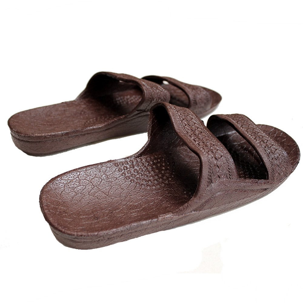 Jesus Slide Sandal Rubber Slipper Dark Brown - AlohaShoes.com