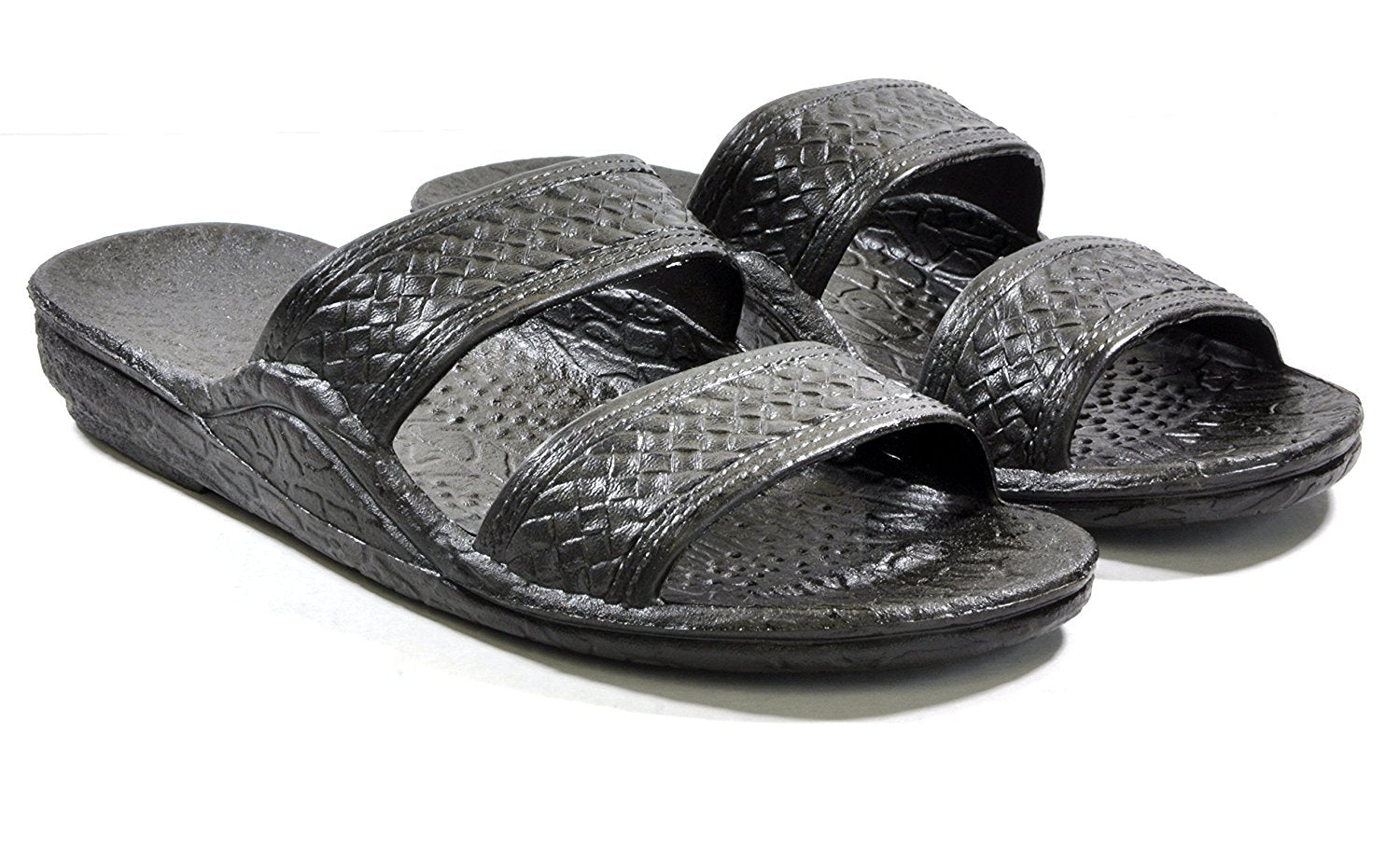 Moses Rubber Slides | Black Brown Jesus Slippers - AlohaShoes.com