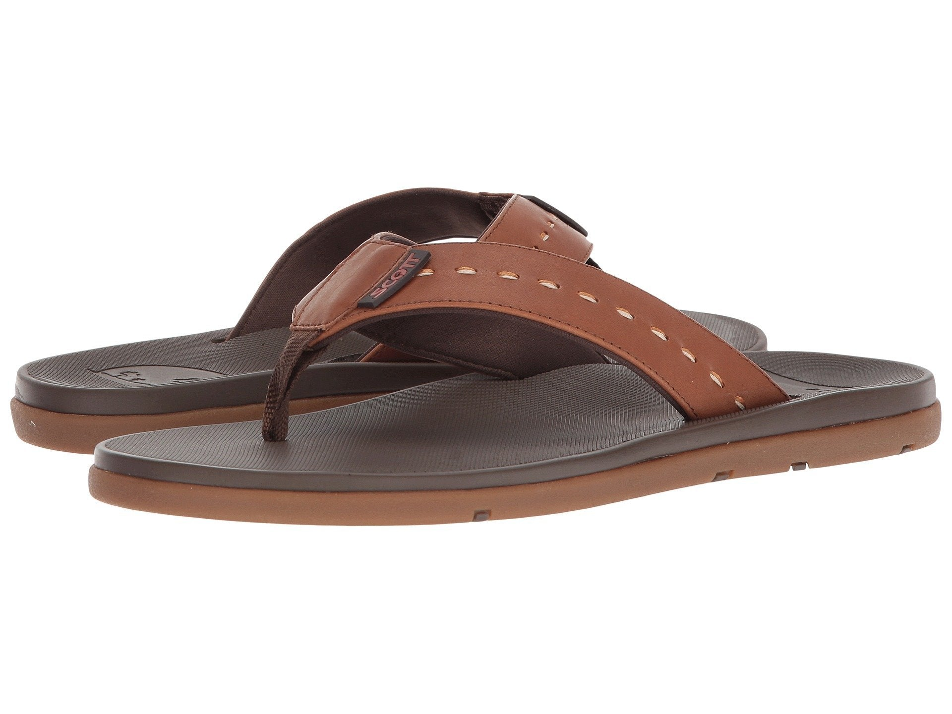 Scott Hawaii Sophisticated Alika Leather Chestnut Brown Sandal - AlohaShoes.com