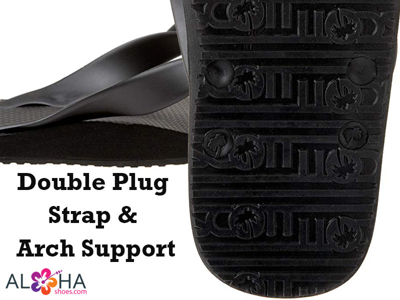 Mens Kumu Natural Rubber Sandals | Double Plug Bottom Flip Flops - AlohaShoes.com