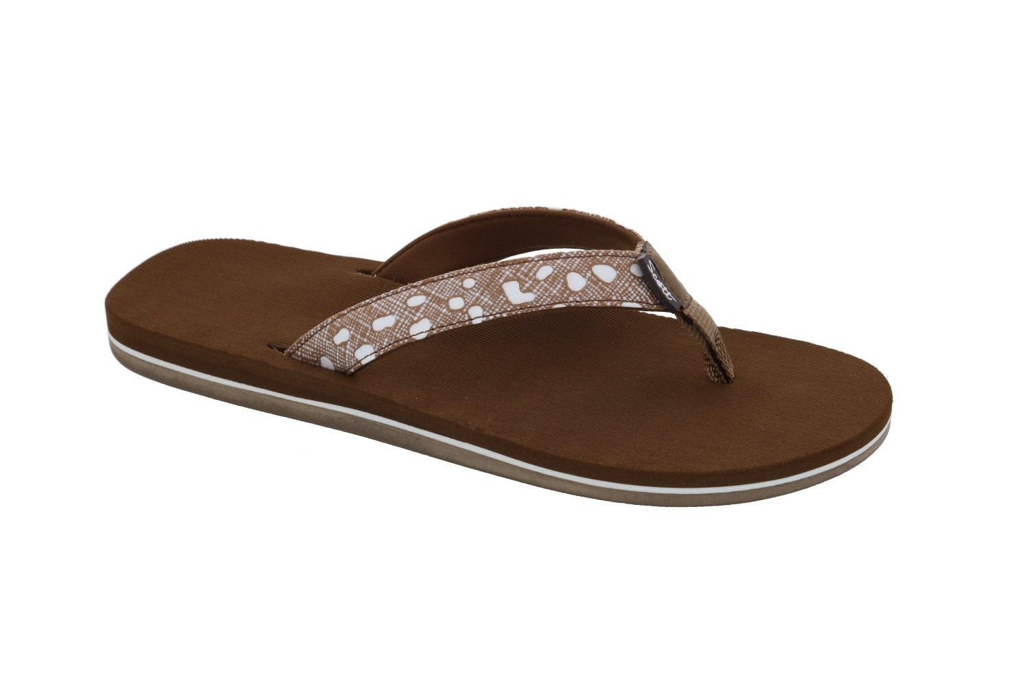 Women's Hanalei Polkadot Strap Sandals in Brown or Black - AlohaShoes.com