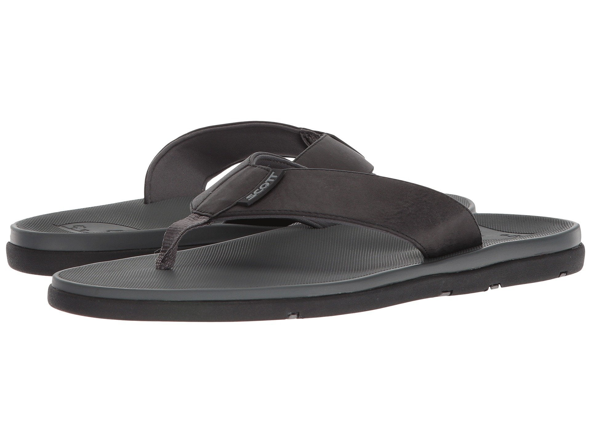 Hikino Sophisticated Smoke Black Vegan Leather Sandal - AlohaShoes.com