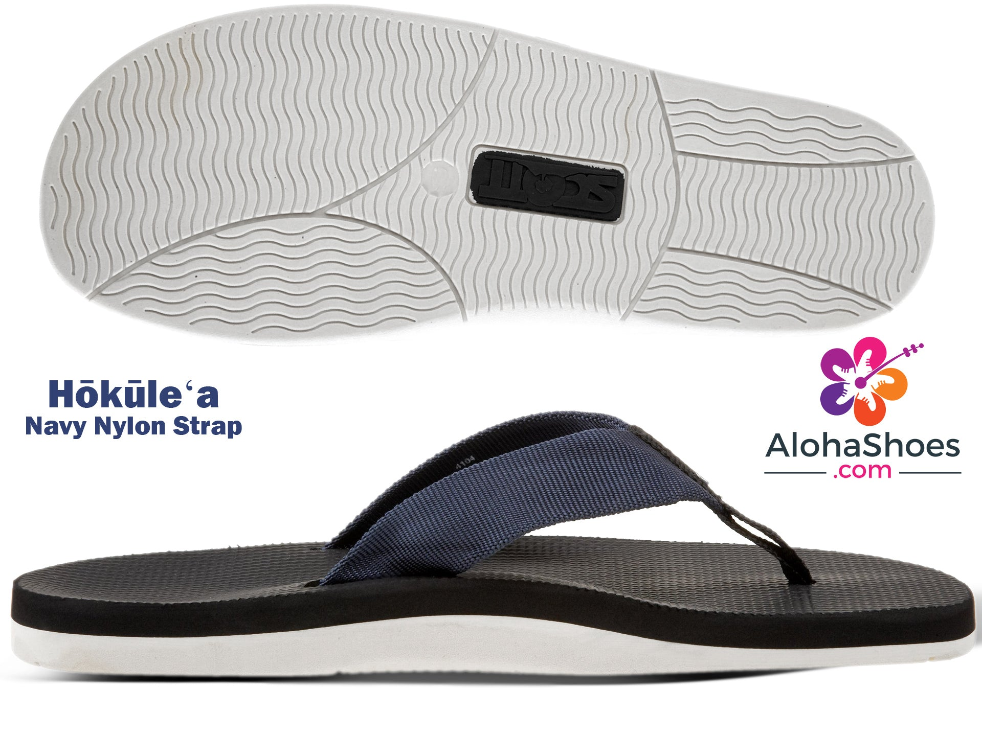 Scott Hokulea Slippers | White Bottom Sandals from Hawaii - AlohaShoes.com