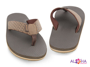 Mens Scott Koanui Brown Sandals with Triangle Design on Strap - AlohaShoes.com