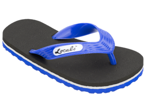 Kids Locals with Blue & White Stripes - Alohashoes.com
