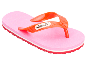 Kids Locals with Bright Pink & White Stripes - Alohashoes.com