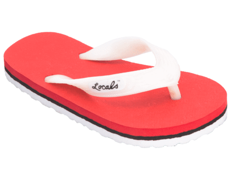 Kids Locals Slippers Striped Rubber Flip Flops from Hawaii - AlohaShoes.com
