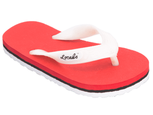 Kids Locals with Red & White Stripes - Alohashoes.com