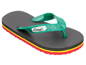 Kids Locals Reggae Green, Yellow, and Red Stripes - Alohashoes.com