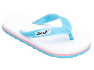 Kids Locals with White, Pink, and Blue Stripes - Alohashoes.com