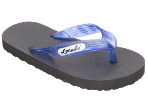 Kids Locals Rubber Slippers with Blue Straps - Alohashoes.com