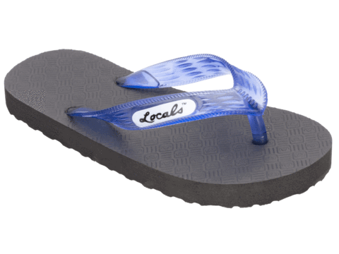Kid's Locals Slippers with Colored Translucent Straps - AlohaShoes.com