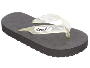 Kids Locals Rubber Slippers with Clear Straps - Alohashoes.com