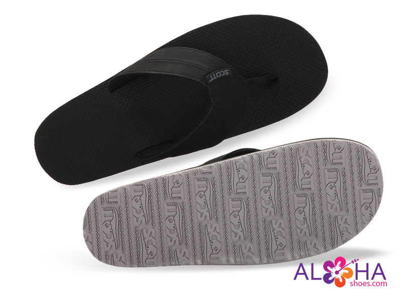 Makoa Beach Sandals | White Rubber Sole PU Leather Strap - AlohaShoes.com