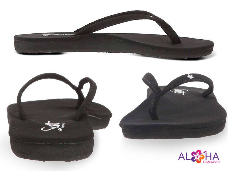 Womens Black Scott Slipper Wrapped in Soft Microfriber Cloth AlohaShoes.com 708087048716