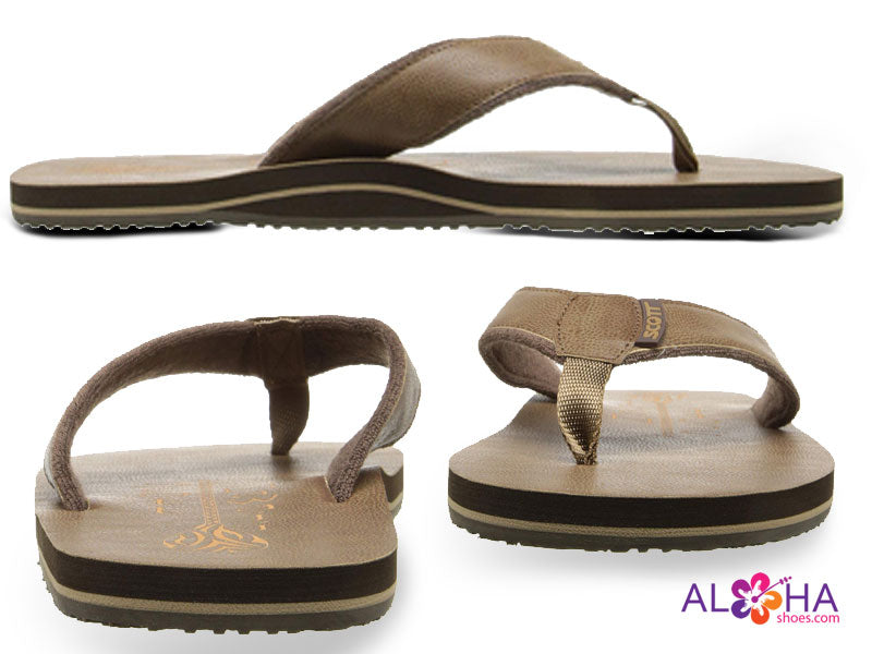 Scott Hawaii Men's Pahoe Brown Sandal - AlohaShoes.com