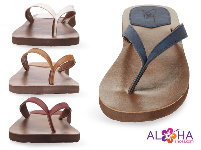 Women's Scott Leather Mohala Sandals - Four Colors at AlohaShoes.com